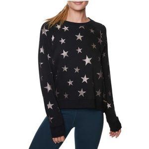 Betsey Johnson Performance Glitter Star Sweatshirt